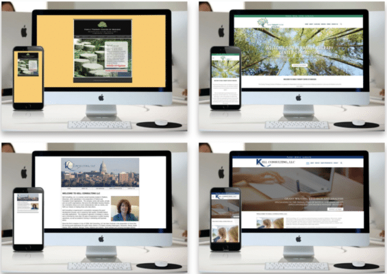 before and after website redesign madison wi